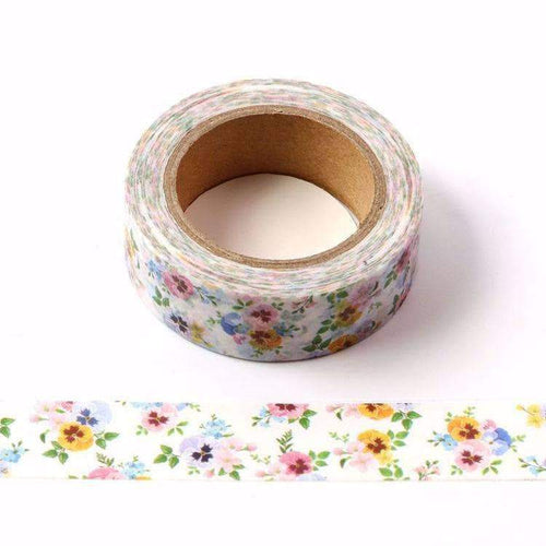 Punky Pins Pansy Floral Print Washi Tape