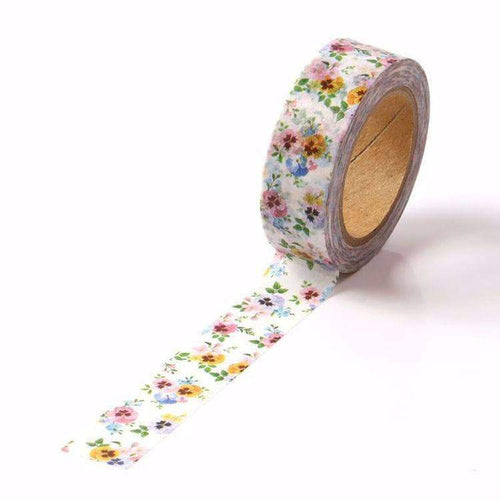 Pansy Floral Print Washi Tape