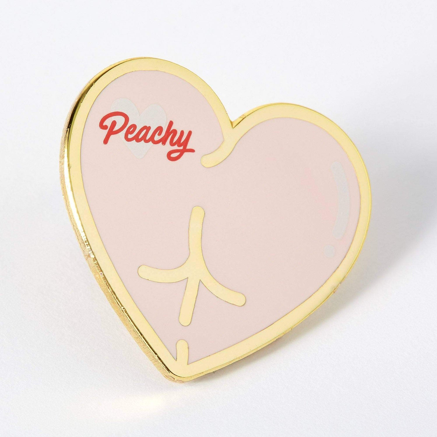 Punky Pins Peachy Bum Enamel Pin