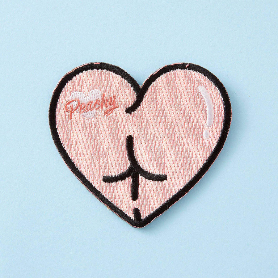 Peachy Butt Embroidered Iron On Patch