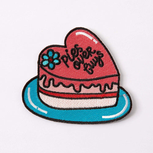 Punky Pins Pies Over Guys Embroidered Iron On Patch
