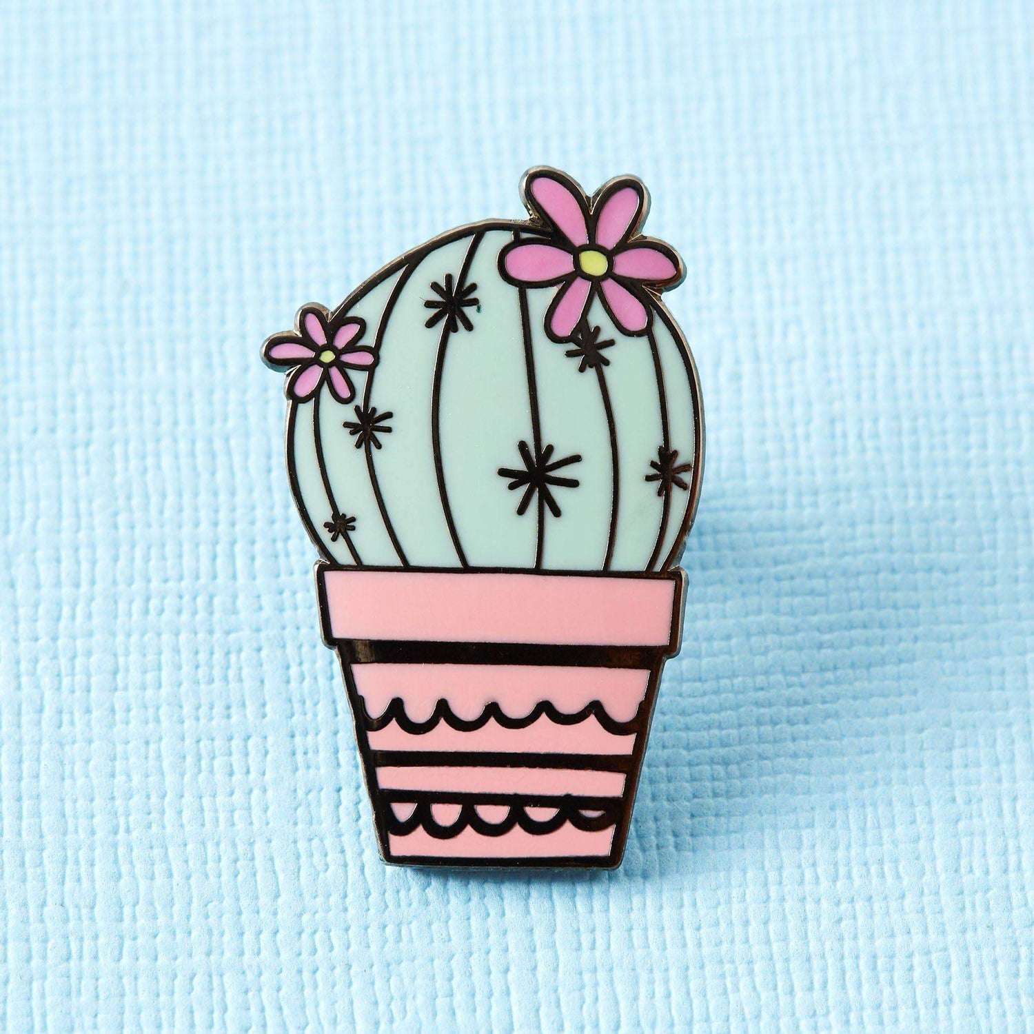 Punky Pins Pincushion Cactus Enamel Pin