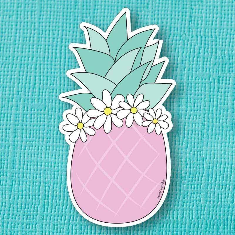 Punky Pins Pink Pineapple Die Cut Vinyl Sticker