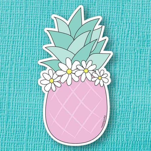 Pink Pineapple Die Cut Vinyl Sticker