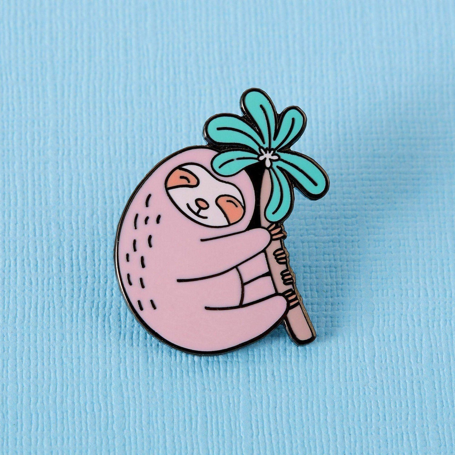 Punky Pins Pink Sloth Enamel Pin
