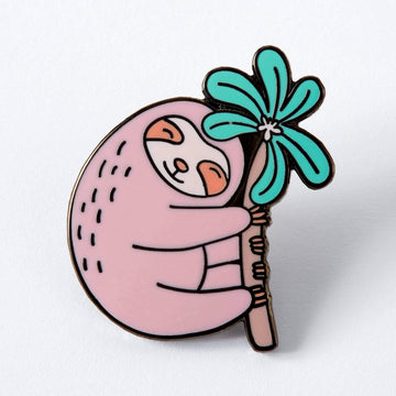 Pink Sloth Enamel Pin