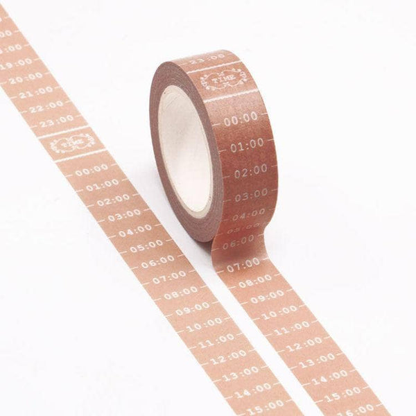 Punky Pins Pink Time Schedule Washi Tape