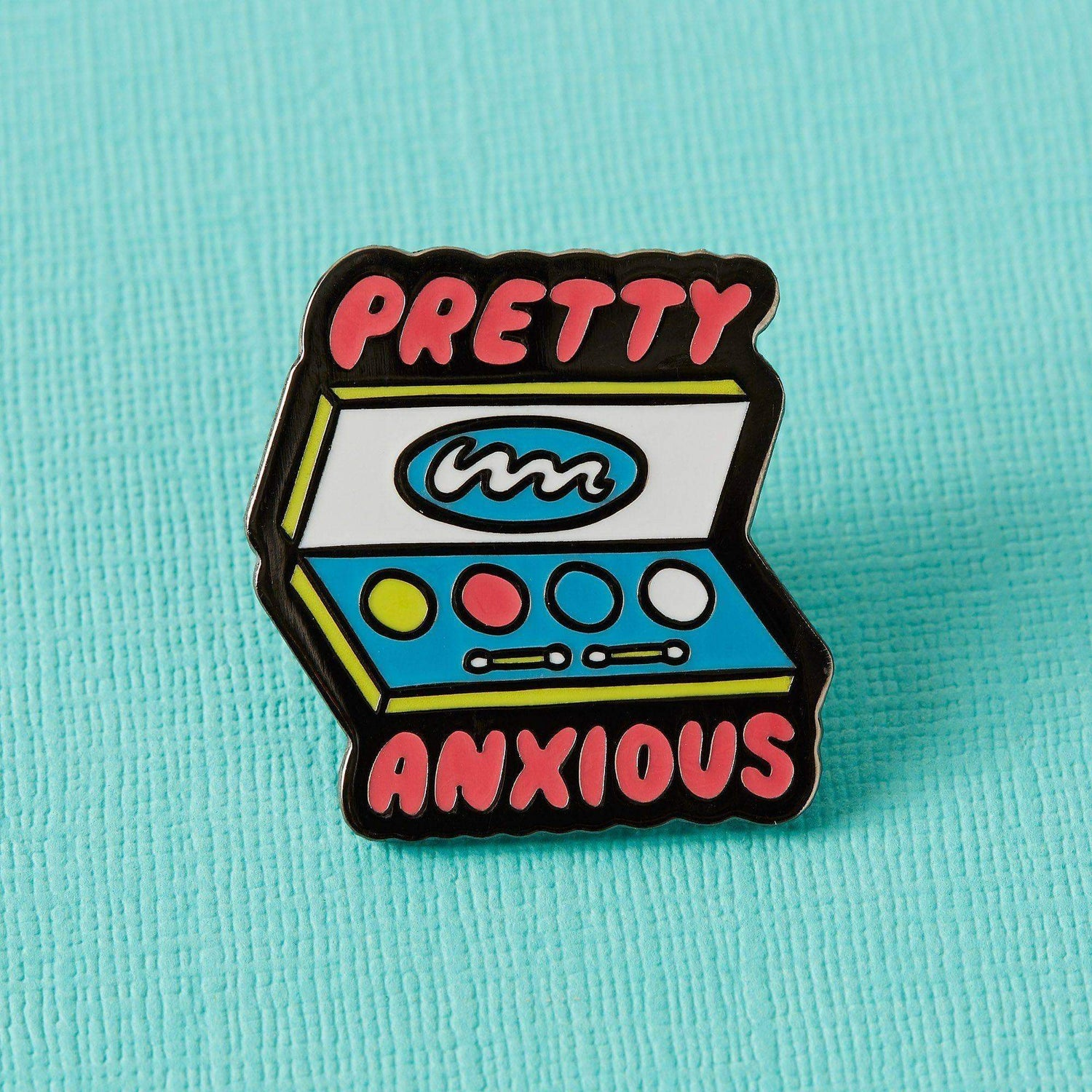 Punky Pins Pretty Anxious Enamel Pin