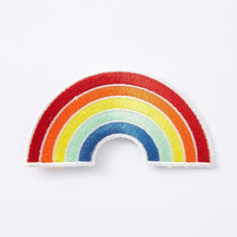Punky Pins Rainbow Embroidered Iron On Patch