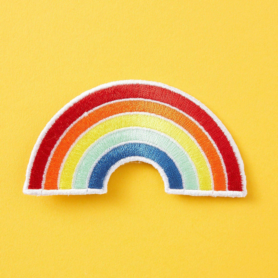 Rainbow Embroidered Iron On Patch