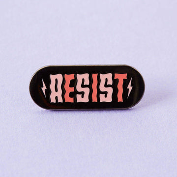Resist Enamel Pin