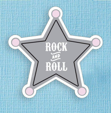 Rock and Roll Badge Large Vinyl Sticker