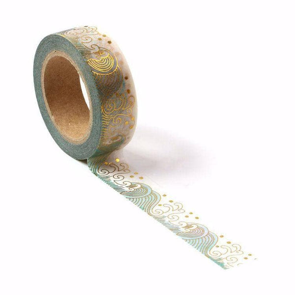 Punky Pins Sea Waves Gold Washi Tape
