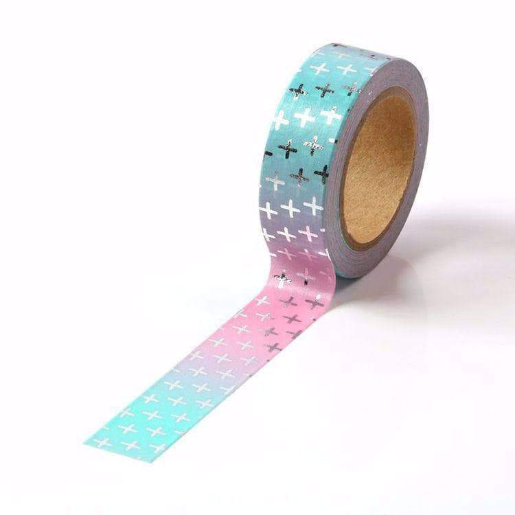 Silver Cross Pink and Blue Gradual Washi Tape