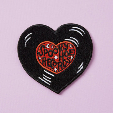 Punky Pins Spooky Hoe Records Iron on Patch