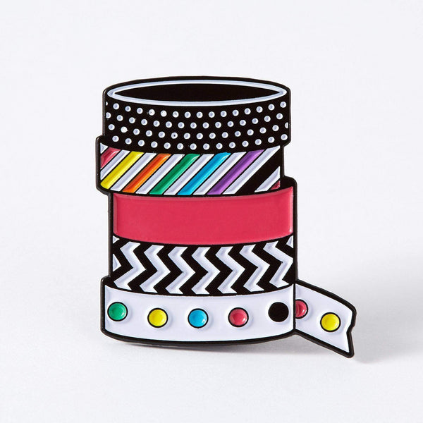 Punky Pins Stationery Washi Tape Enamel Pin