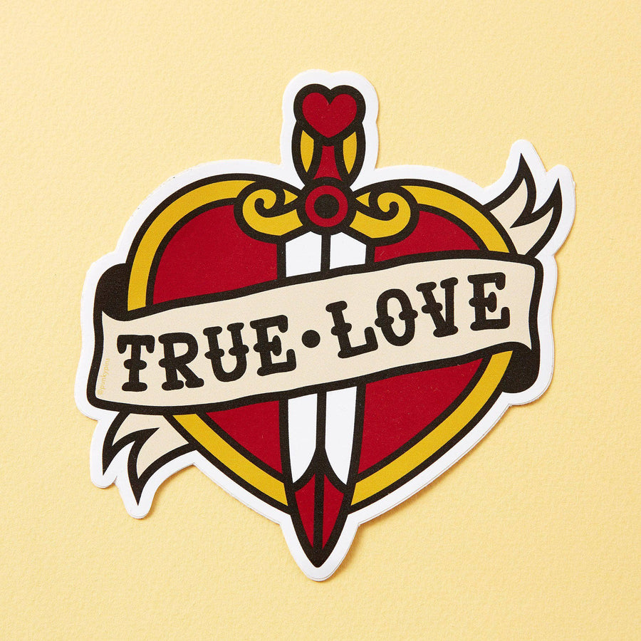 True Love Tattoo Inspired Vinyl Laptop Sticker
