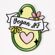 Punky Pins Vegan AF Avo Iron On Patch