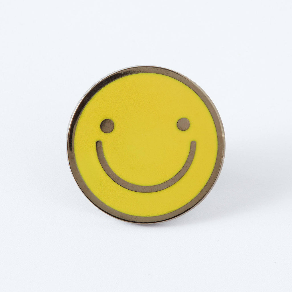 Punky Pins Yellow Smiley Face Enamel Pin