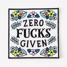 Punky Pins Zero Fucks Given Iron On Patch