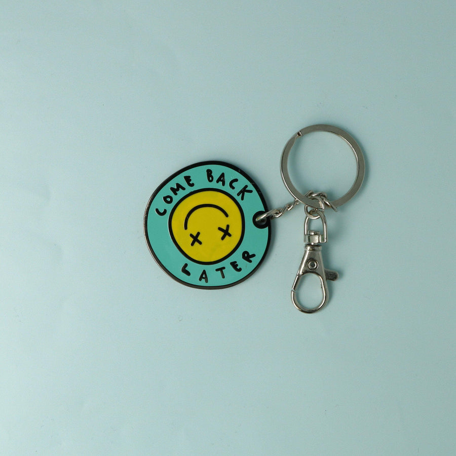 punkypins Come Back Later Keyring