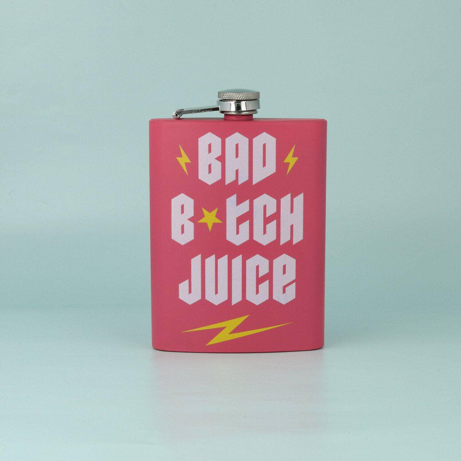 punkypins Pink Bad B*tch Juice Hip Flask