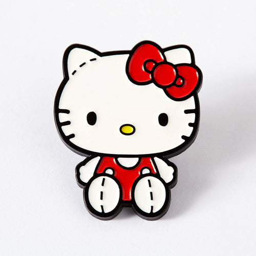 Retro Hello Kitty stitches enamel pin