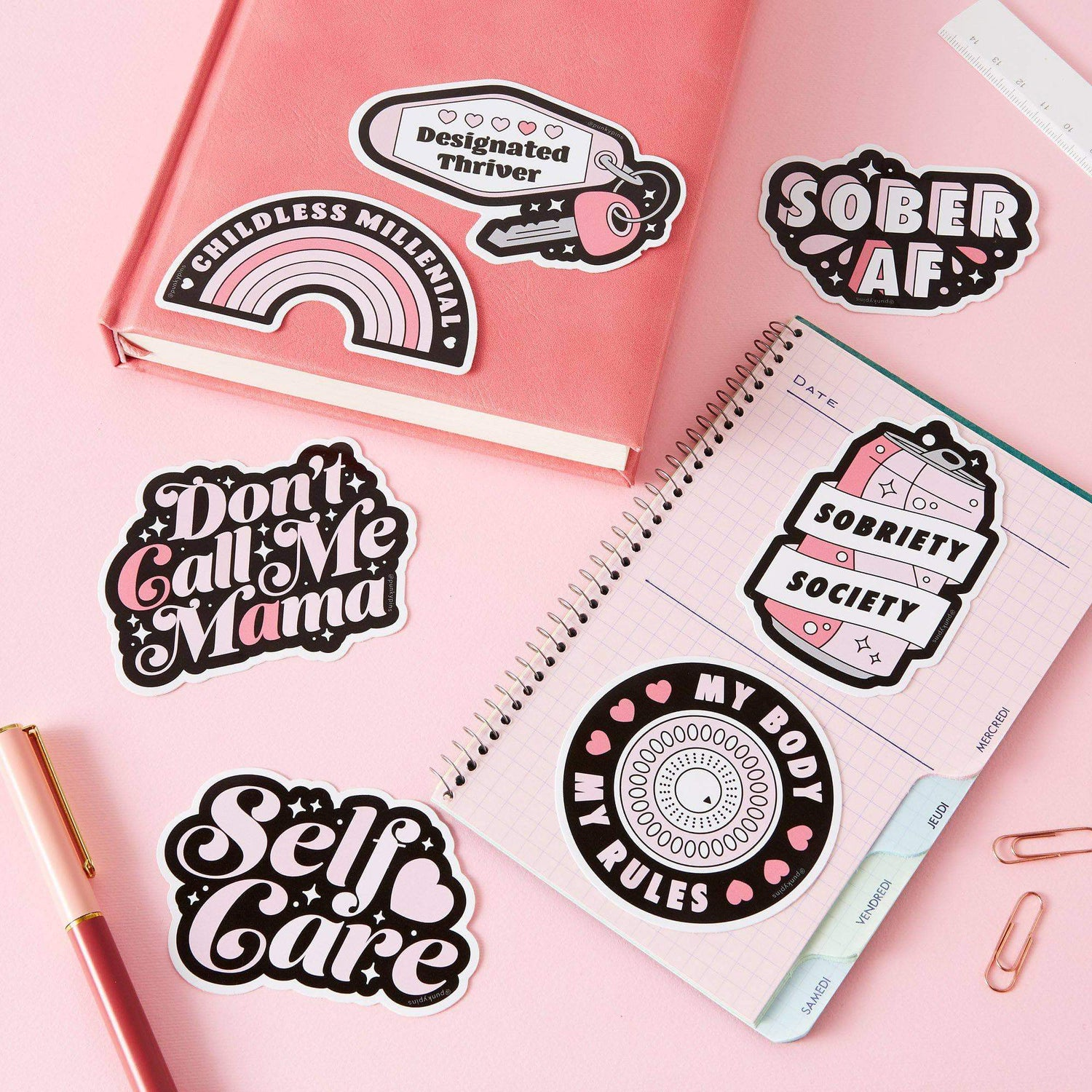 punkypins Self Care Vinyl Laptop Sticker