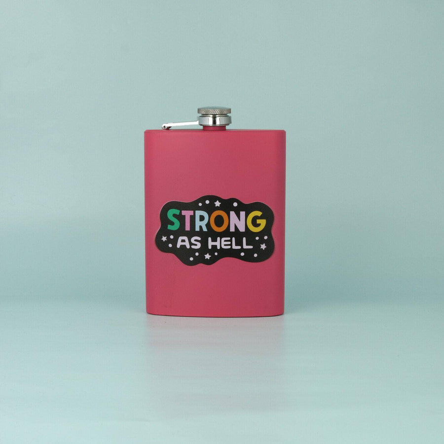 punkypins Strong As Hell Hip Flask