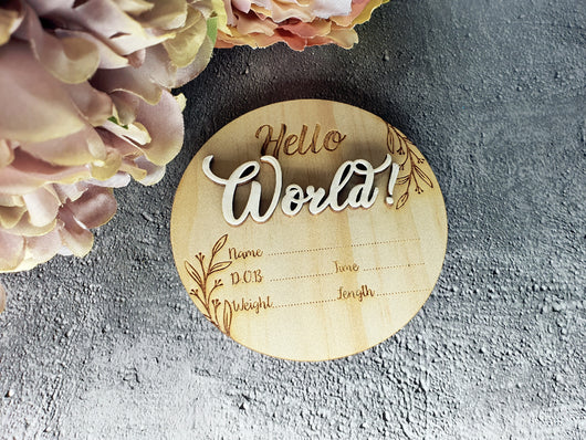 Newborn Announcement Plaque