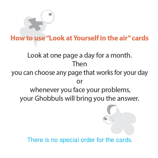 """Look at Yourself in the air"" Cards"
