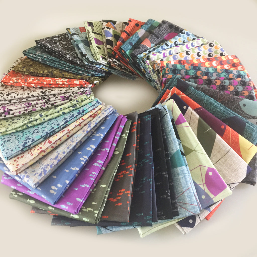 """Fish Hope"" Fat Quarter Bundle 33 SKU"