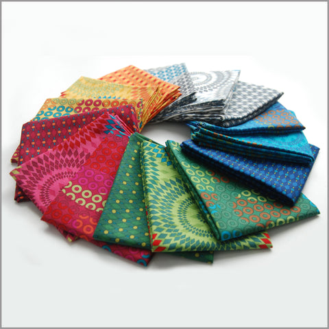 """Geo Coaster"" fat quarter bundle 15 SKU"