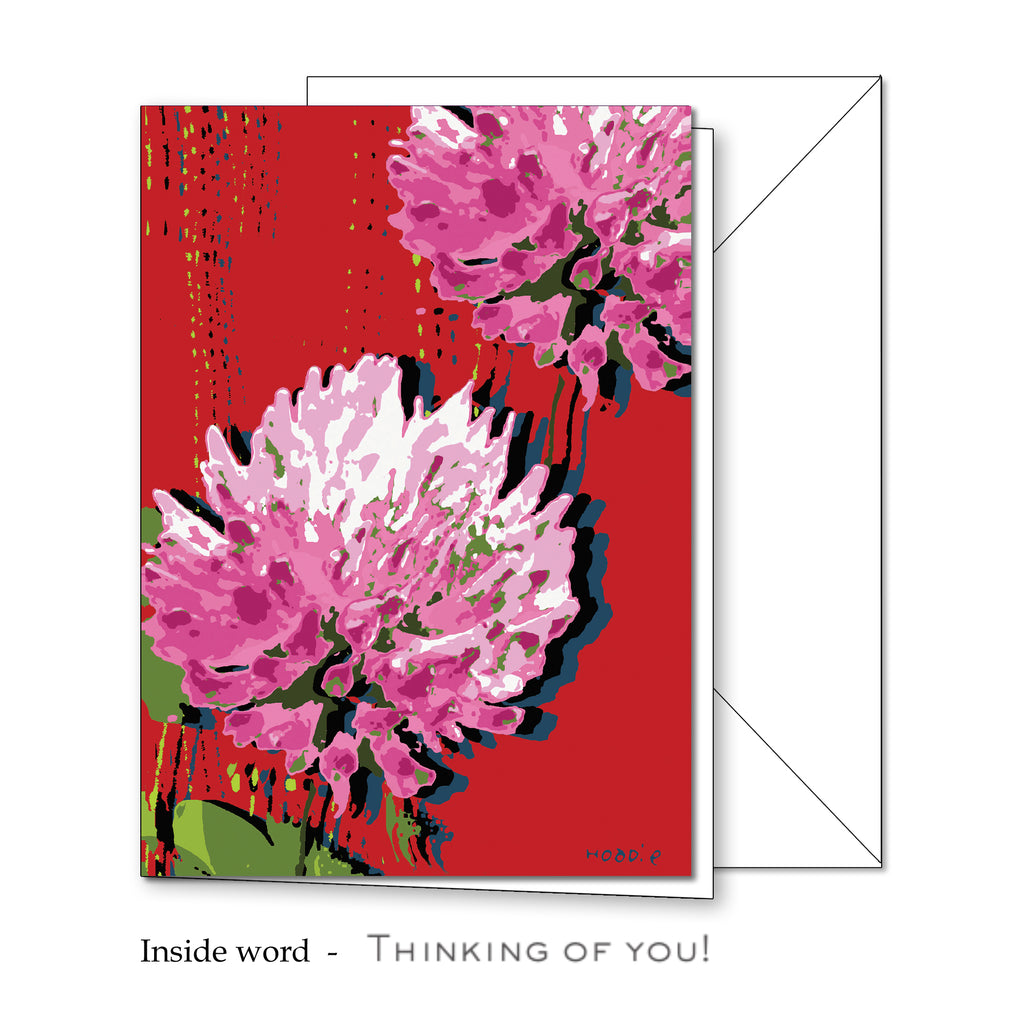 Floral Greeting Card 4 x 5 11/16