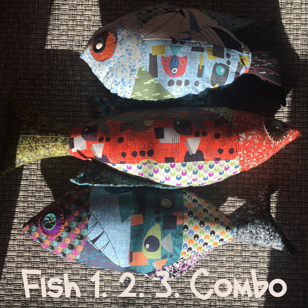 Fish 3 Patchwork stuffed Animal