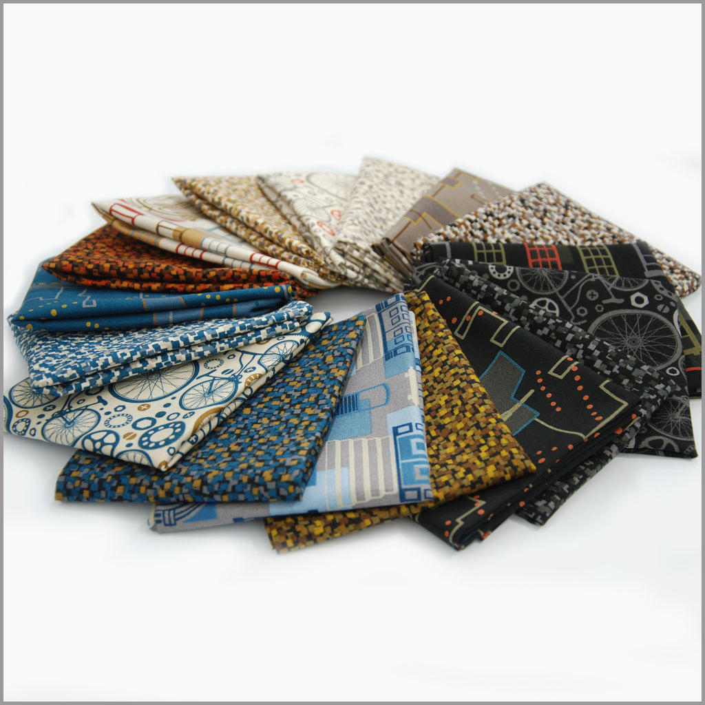 """Live City"" fat quarter bundle 17 SKU"