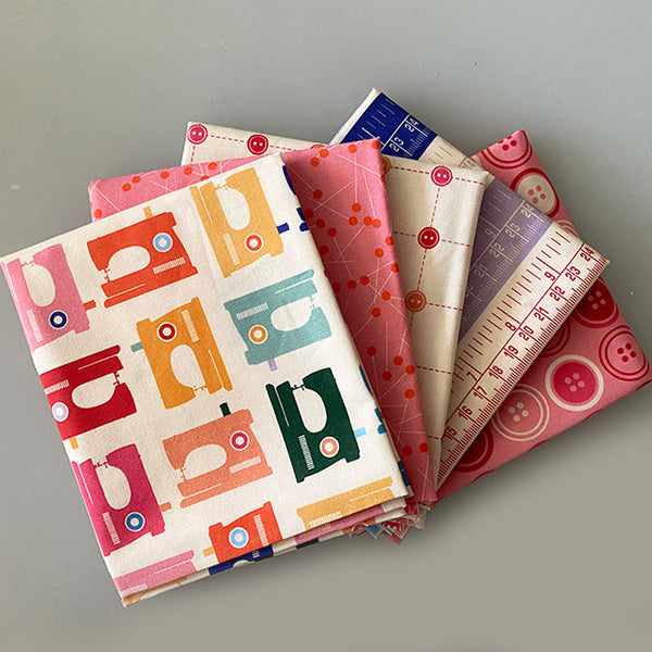 Five Fat Quarters in the Box - Sewing Mood