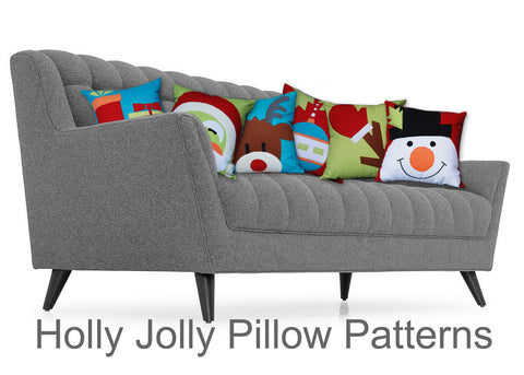 DIY -  Holly Jolly Pillow / Sewing Pattern PDF File