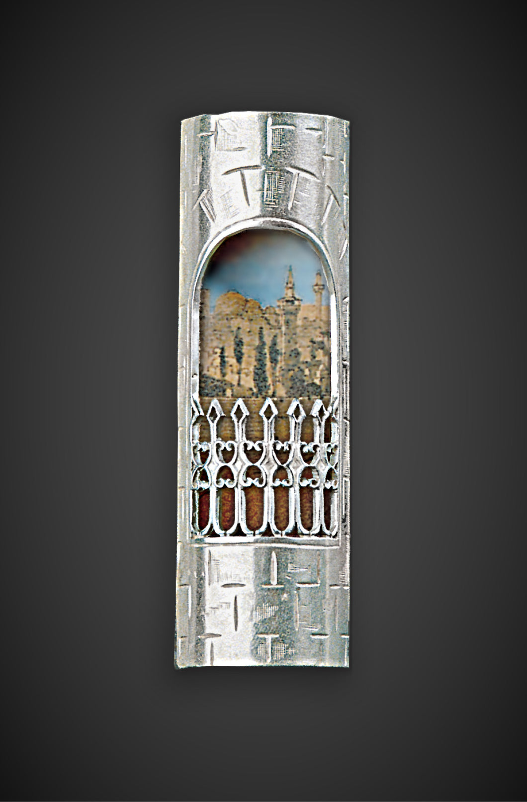 The Jerusalem Window Mezuzah