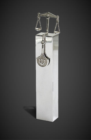 The Scales of Justice Mezuzah