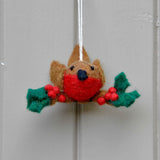 Holly Robin Tree Decoration