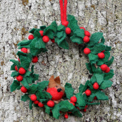 Holly Robin Wreath