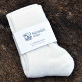 Johnstons of Elgin Cashmere Socks in White