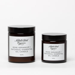 Nathalie Bond Organics Rose Geranium & Patchouli Candle (Small)