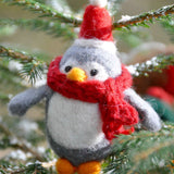 Penguin Tree Decoration in Grey