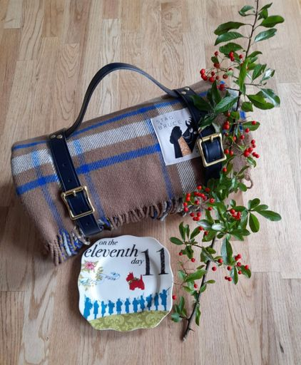 On The Eleventh Day Of Christmas ~ Affric Throw & Picnic Strap