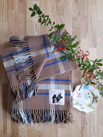 On The First Day of Christmas ~ Affric Throw & Scarf Set
