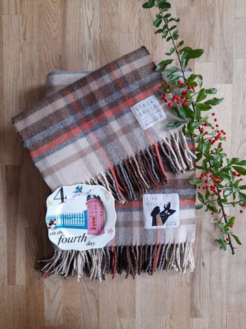 On The Fourth Day Of Christmas ~ Orchy Throw & Scarf Set