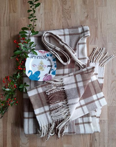 On The Seventh Day of Christmas ~ Strath Cape & Scarf Set