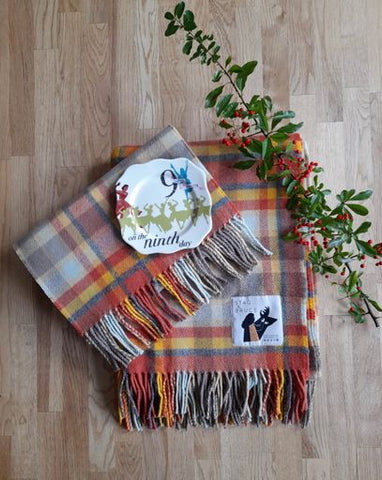 On The Ninth Day Of Christmas ~ Etive Throw & Scarf Set